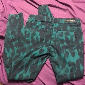Express Jeans - Green and black pants